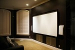 Theater room with 4 in-wall subs!